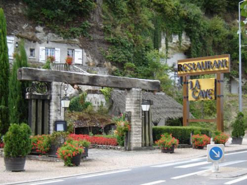 restaurant troglodyte la cave à Montlouis